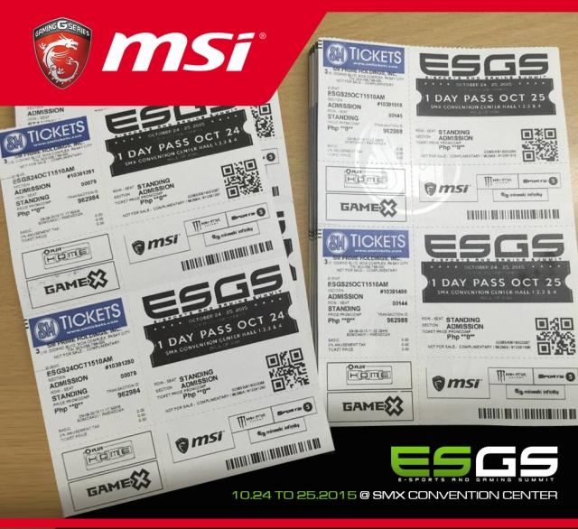 ESGS Ticket