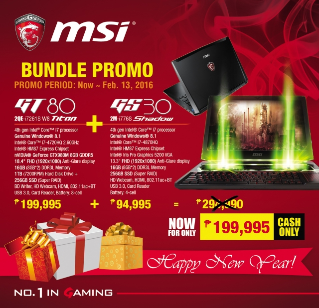 MSI Notebook - NEW YEAR Promo